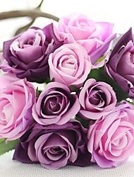 Fleurs de mariage Rond Roses Bouquets Mariage Bleu / Rose / Vert / Blanc / Pourpre / Champagne / Multicolore Satin / Soie Env.21cm