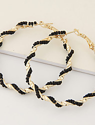 Earring Hoop Earrings Jewelry Women Fashion / Bohemia Style Party / Daily / Casual 1 pair Gold / Black / White / Blue / Pink
