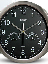 Круглый Модерн Настенные часы,Прочее Нержавеющая сталь 32*32*4.5