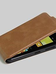 crazy horse grão pu couro, quadro vertical com estojo de proteção do cartão para nokia lumia 630