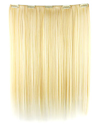 Wig White Gold 52CM High Temperature Wire Length Straight Hair Synthetic Hair Extension