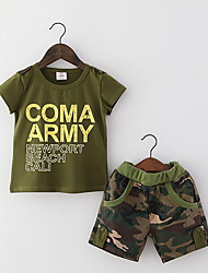 2016 New Camouflage Kids Clothing Set for Boys Girls Summer Cotton Camo Boys Sports Set Active Girls Clothing Sets