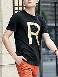 Funny Letter R Design T-Shirts Creative Stylish Top T Shirts Man Cotton Summer Tees