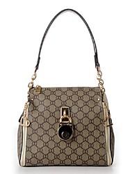 Women-Casual-PU-Shoulder Bag-Beige / Brown