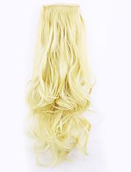 oro lunghezza 50 centimetri vendita diretta della fabbrica tipo legano coda di cavallo arricciare i capelli coda di cavallo (colore