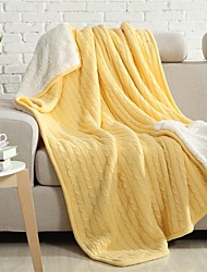 "Multicolor Solid Knitted Blanket Bamboo Fiber  59""*79"""