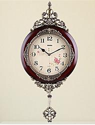 Rond Moderne/Contemporain Horloge murale,Autres Bois 64*31*5