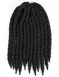 # 4 / #1B / #1 / #2 Havanna / Gehäkelt Twist Braids Haarverlängerungen 14 Inch Kanekalon 12 Strand 80g Gramm Haar Borten