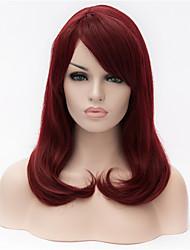 o botão de compartilhamento nova peruca vinho tinto parcial em perucas de cabelo longo de 16 polegadas