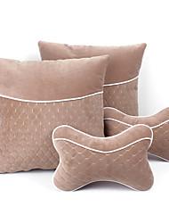 4pcs appuie-tête de siège de voiture de coton, y compris oreiller retour