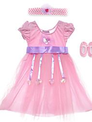 Performance Dresses Children's Performance Spandex / Polyester Sash/Ribbon / Sequins 2 Pieces Sleeveless High Headpieces / Dress 60cm