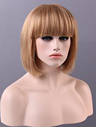 forma limpa estrondo bobo cabelo liso curto peruca 9 cores para escolher