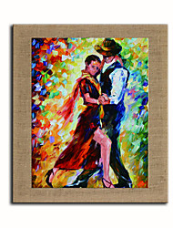 Hand Painted Modern Abstract Figure Dance Oil Painting On Linen Art Pictures For Office Room Decor Wall Paintings