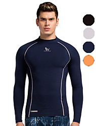 Vansydical® Men's Breathable Quick Dry Sweat-wicking Exercise & Fitness Running Tops Gray Black Blue Orange