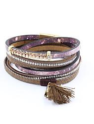 Bracelet Bracelets Wrap / Bracelets en cuir Alliage / Cuir / Strass / Tissu / Emaillé Mode / Vintage / Bohemia style / Style PunkSoirée /
