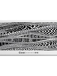 BlueZOO Rectangle Printing Nail Art Stamping (C-015)