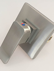 grifo de la ducha de latón níquel cepillado contemporáneo monomando baño de agua caliente y fría