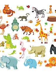Wall Stickers Wall Decals Style Elephant Squirrel Paradise PVC Wall Stickers