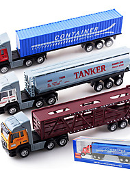 Dibang - Children's toy car alloy toy car simulation truck tractors stall selling toys container front (3 mixPCS)