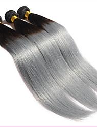 Âmbar Cabelo Brasileiro Retas 18 Meses 3 Peças tece cabelo