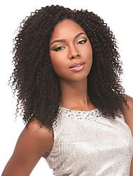 10-26inch бразильца vrigin волосы парики 100% человеческих волос Kinky скручиваемости париков человеческих волос