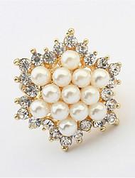 Ringe Damen Künstliche Perle / Strass Legierung Legierung 4.0 / 6 Gold