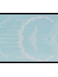 Lovely HENNA Lace Big White Face Sticker 13