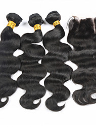 Hair Weft with Closure Brazilian Texture Body Wave hair weaves