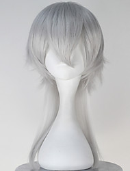 Cosplay Wigs Cosplay Cosplay Gray Medium Anime Cosplay Wigs 50 CM Heat Resistant Fiber Male
