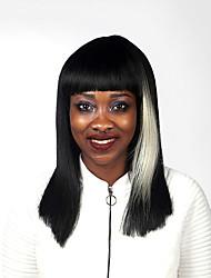 parti perruques synthétiques de haute qualité multi-couleur longue ligne droite femme