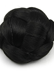 Kinky фигурная черный европы невесты человеческих волос монолитным парики шиньоны SP-130 2