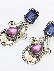 New Fashion Women/Girl's Simulated Diamond Pierced Drop Dangle Earrings Jewelry