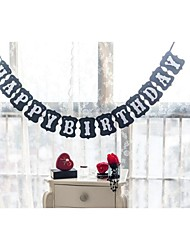 Happy Birthday Vintage Bunting Garland Flag Banner Photography Prop Decoration