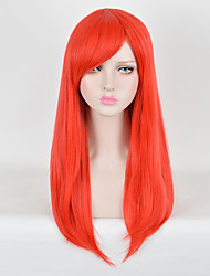 Long Red Color Straight Cosplay Wigs European Synthetic Wig