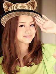 Summer Sun Holiday Beach Parent-child Orecchiette Cute Straw Dome Curling Hat