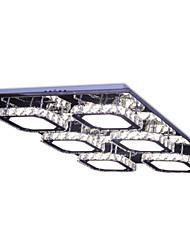 Modern Led 6 Lights Crystal Stainless Steel Ceiling Light Flush Mount White Light Living Room Bed Room