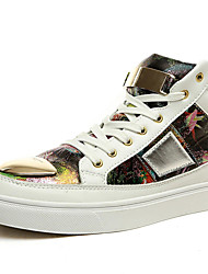Men's Shoes Outdoor / Office & Career / Athletic / Casual Synthetic / Fashion Sneakers Black / White / Multi-color
