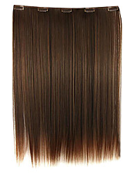 Wig Brown 52CM High Temperature Wire Length Straight Hair Synthetic Hair Extension