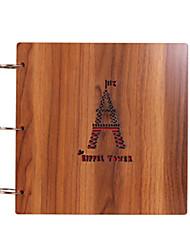 diy 26 * 26 cm album bois 12inch couverture main photo scrapbook 30pcs papier noir pour la famille / bébé / amants / cadeaux