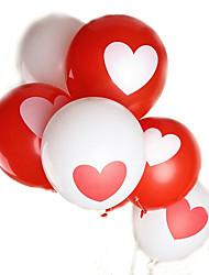 100pcs / lot 12inch 2,8 g / pc balão de cor padrão do coração da festa de aniversário de casamento ballon bola de hélio látex misturada