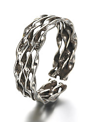 Unisex Vintage Pattern Punk Weave Antique Sterling Silver Ring Band Rings Daily / Casual 1pc