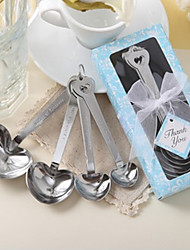 Love Beyond Measure Heart Shaped Measuring Spoons Wedding Favor
