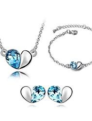 Schmuck-Set Damen Alltag Schmuck-Set Legierung Kristall Armbänder / Ohrringe / Halsketten Weiß