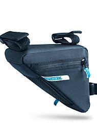 ROSWHEEL® Bolsa de Bicicleta 1.2LBolsa para Quadro de BicicletaZíper á Prova-de-Água / Á Prova de Humidade / Camurça de Vaca á