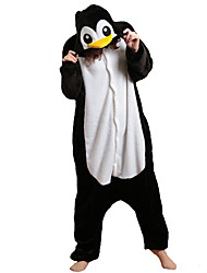 Kigurumi Pyjamas Penguin Trikoot/Kokopuku Halloween Animal Sleepwear Musta Patchwork Polar Fleece Kigurumi Unisex Halloween / Karnevaali
