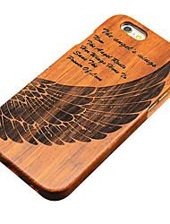 Para Funda iPhone 5 En Relieve Funda Cubierta Trasera Funda Fibra de Madera Dura Madera Apple iPhone SE/5s/5