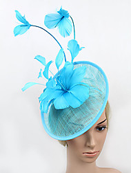 Women's Feather / Tulle Headpiece-Wedding / Special Occasion Fascinators 1 Piece