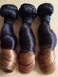 3 delar Vågigt Human Hair vävar Brasilianskt hår Human Hair vävar Vågigt