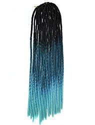 20 polegadas crochet suave dreadlock havana mambo torção trança cabelo ombre cor preto royalblue skyblue