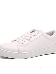 DamenLässig-PU-Flacher Absatz-Komfort-Schwarz / Weiß